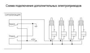 Схема подключения дополнительных активаторов