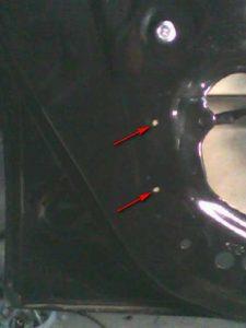 отверстия для активатора, дверь передняя левая шевроле авео